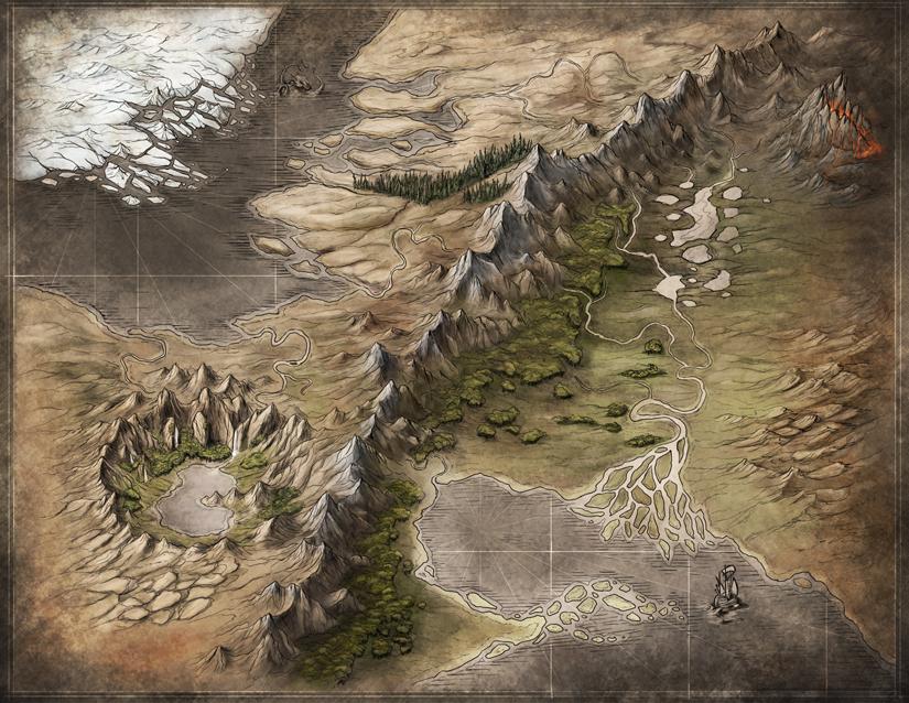 Portfolio - Fantasy Map